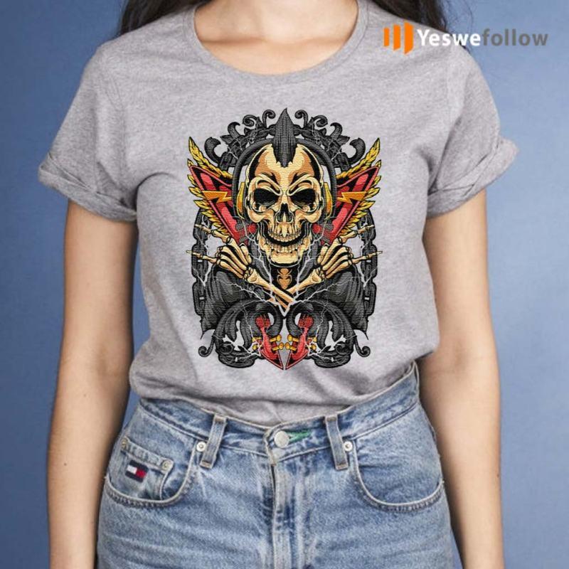 Goth-Rock-Skull-Rocker-Horror-T-Shirts