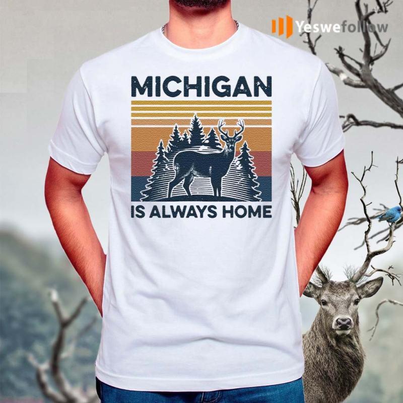 Michigan-Is-Always-Home-Vintage-Shirts