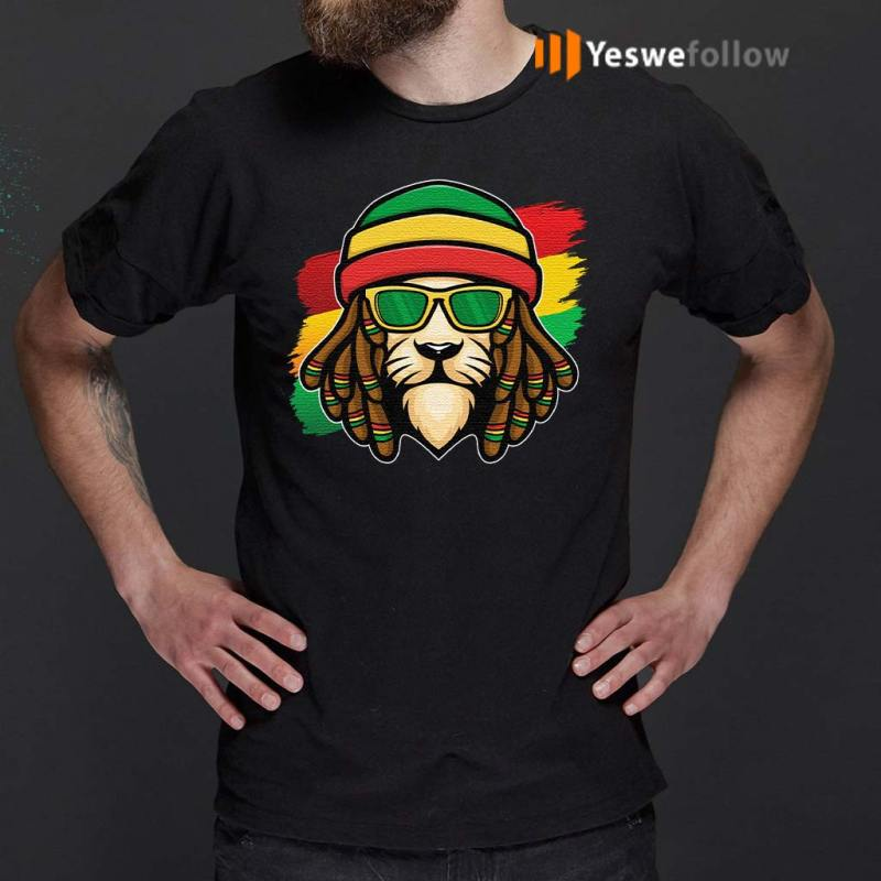 Roots-Reggae-Music-Rasta-Lion-T-Shirts