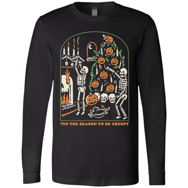 Halloween Funny Skull Tis The Season To Be Creepy T Shirt