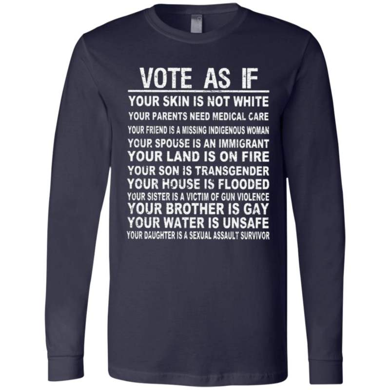 vote as if t shirt