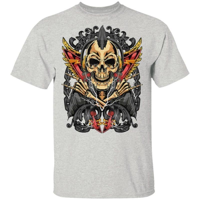 Goth Rock Skull Rocker Horror T-Shirt