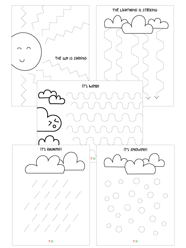 Preschool Line Tracing Worksheets The Weather Yes We Made This