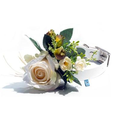 Adorno bouquet de flores artificiales para perros grandes