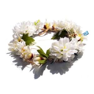 corona de flores artificiales para perros