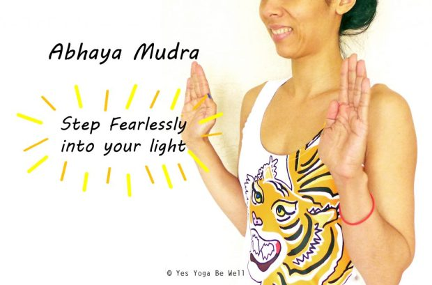 live fearlessly with abhaya mudra yes yoga be well