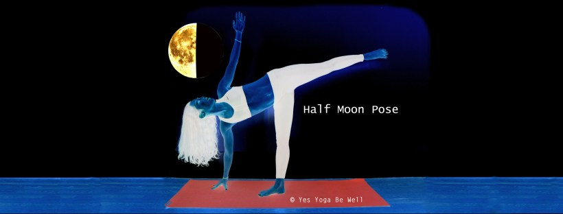 Half Moon Pose with Moon