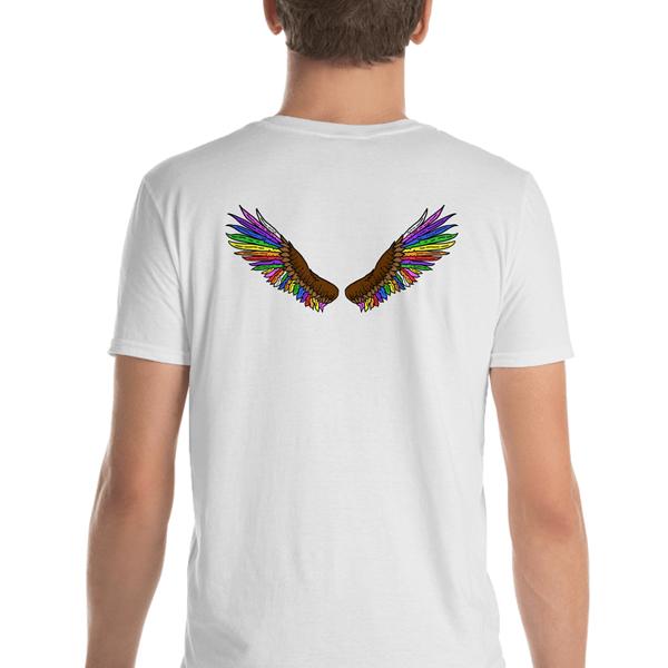 Rainbow Eagle T-shirt Wings on back White