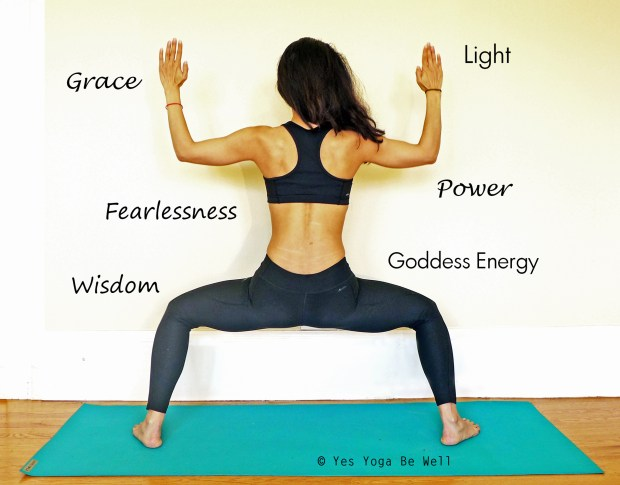 Utkata Konasana Goddess Pose for Power Energy Fearlessness