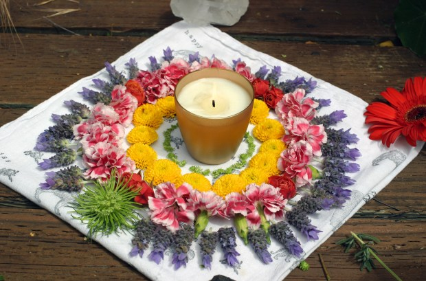 sun and flower mandala