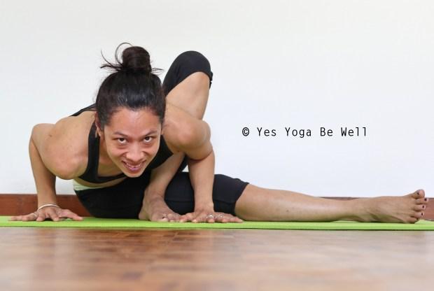 how to do baby grasshopper pose yoga