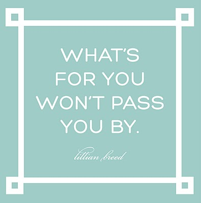 What's For You, Will Not Pass You