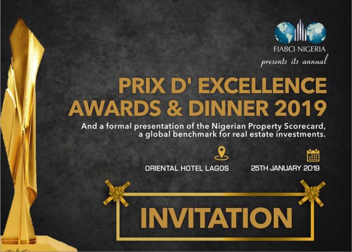 FIABCI-NIGERIA BUSINESS FORUM AND PRIX D'EXCELLENCE AWARDS AND DINNER 2019