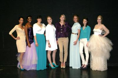 Yevette designed, patterned, and hand-made this line of 8 progressive creations.
