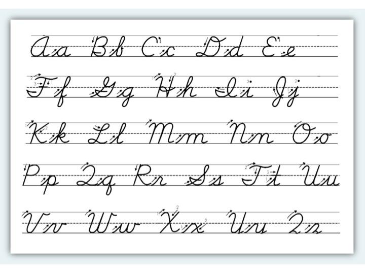 Cursive Handwriting Basics