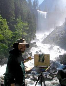 Naturalist James McGrew at Vernal Fall, Yosemite National Park