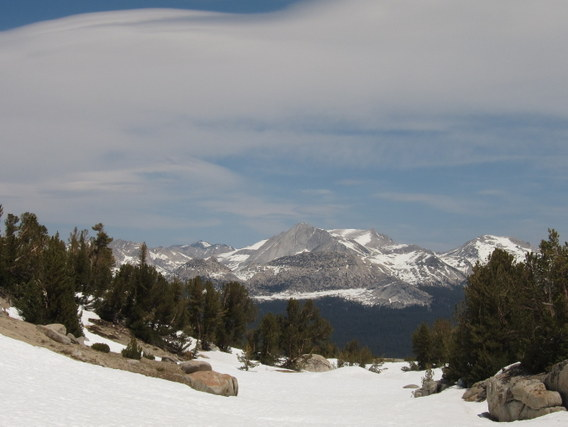 Lenticulars and Mt. Conness, Yosemite National Park