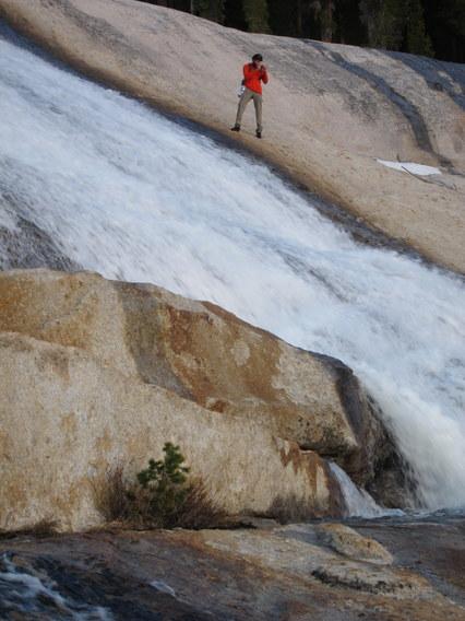 Gabe Mange Photographing Pywiack Cascades