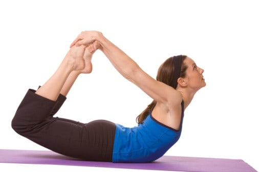bow pose for losing back fat