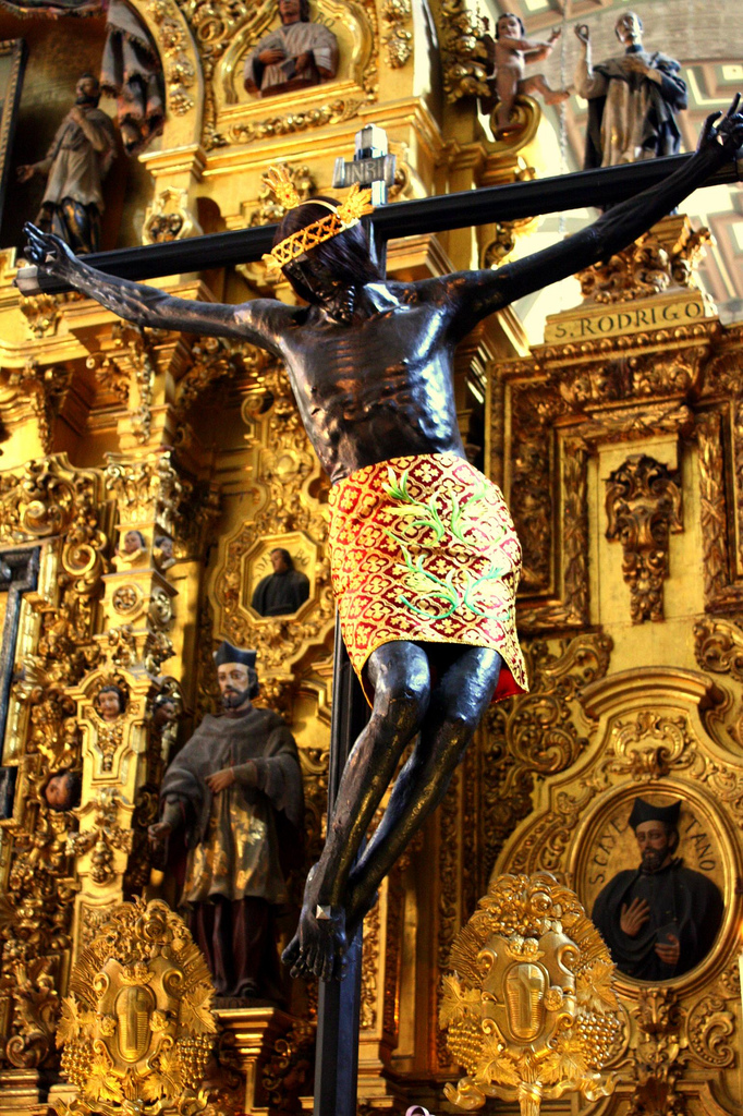 THE FAMOUS BLACK CHRIST OF MEXICO-CRUCIFIXION OF BLACK JESUS,METROPOLITIAN CATHEDRAL,MEXICO CITY-PHOTOGRAPHED BY BIALY- ANOTHER SIGN OF THE ORIGINAL BLACK IMAGES OF CHRIST AND THE BLACK MADONNAS)