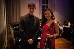 Performing with Manos Charalabopoulos at the KCL Bar Society Annual Dinner, Royal Overseas League, London (February 2015)