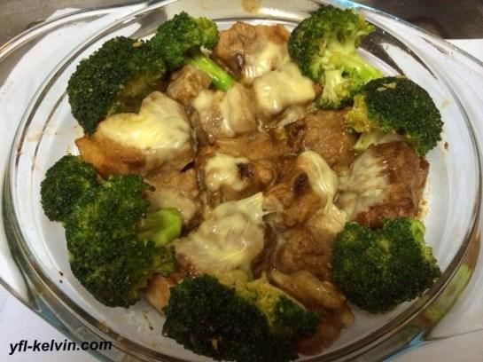 牛油芝士焗肉排2