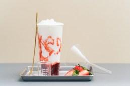草莓鮮乳沙冰