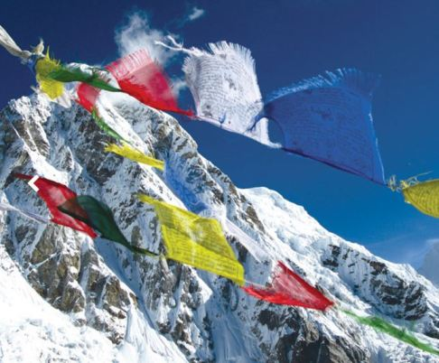 himalaya + flags