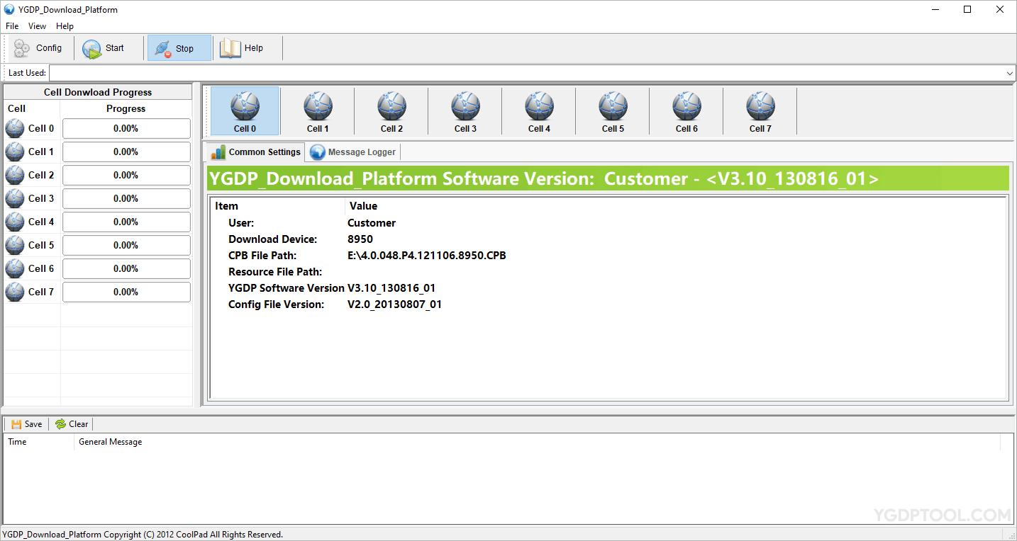 YGDP Flash Tool V3.10