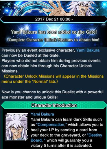 The Organization | [Duel Links] Yami Bakura Joins The Gate