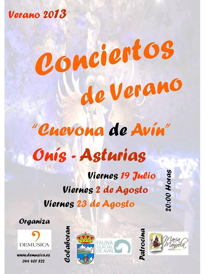 CARTEL CONCIERTOS DE LA CUEVONA DE AVIN