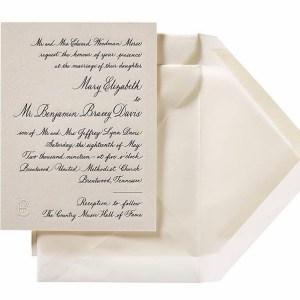 Copperplate Invitation