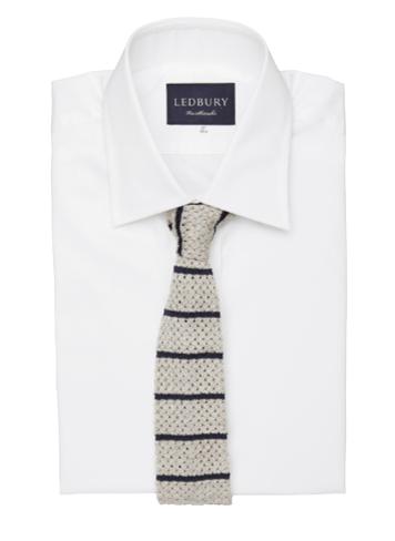 The Paxton Stripe Knit Tie, $85.00