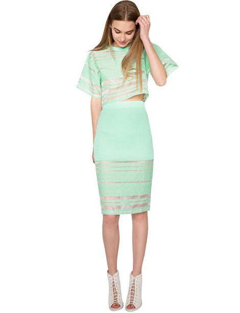 $92, Mint Matching Separates, Pixie Market