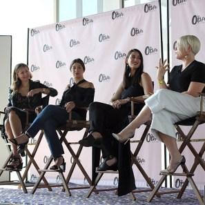 Jess Teves, Editor-in-Chief of Stylecaster; Stephanie Mark, co-founder of The Coveteur; Daniella Kallmeyer, designer of Kallmeyer NY; and Melissa Battifarano, design director of Rihanna's Fenty Corp.