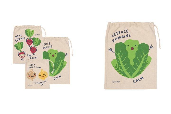 Uncommon Goods, Funny Food Plastic-Free Produce Bags