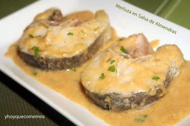 Merluza en Salsa de Almendras  Recetas de cocina  Y hoy que comemos
