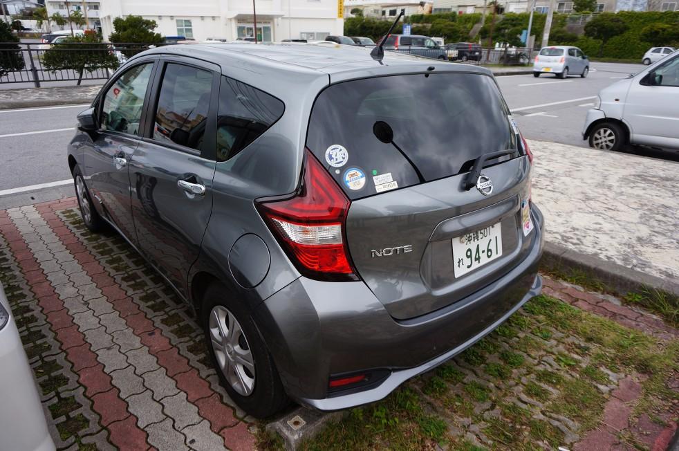 沖繩自助旅遊租車租到日產油電混和車NOTE e-Power… | 科技,工藝,人文與皮皮的對話