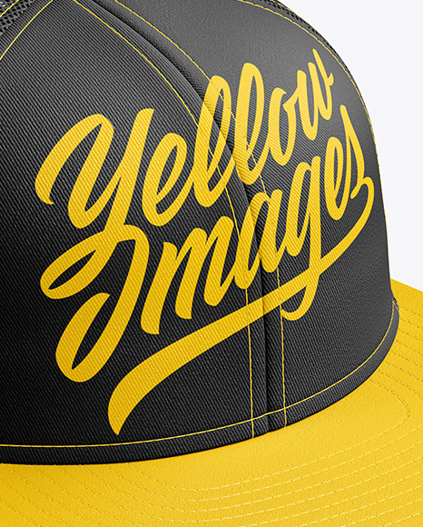 Download Baseball Cap Mockup Side View Yellow Images