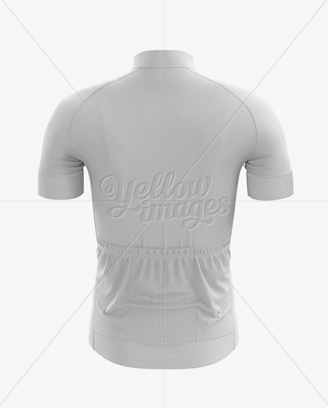 Download Men's Cycling Jersey Mockup - Back View in Apparel Mockups ...