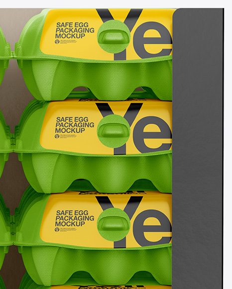 Download 12 Eggs Carton Safe Pack Mockup Half Side View High Angle Shot Yellowimages