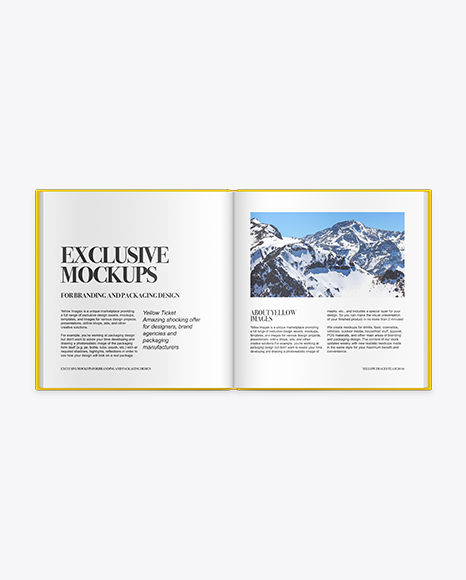 Download Open Book Mock Up Yellowimages