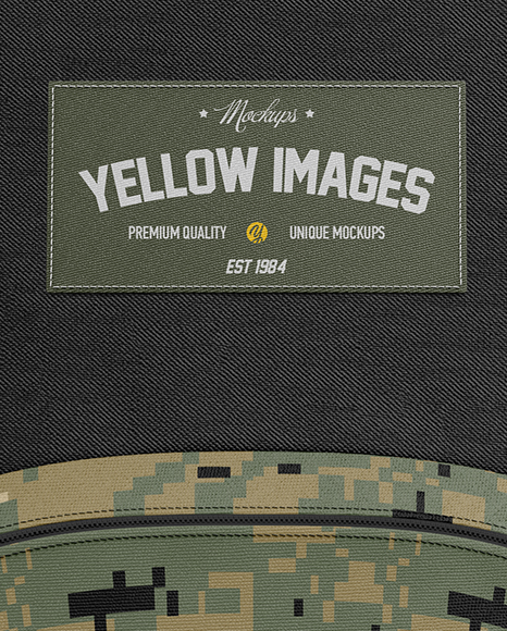 Download Backpack Mockup Front View Yellowimages