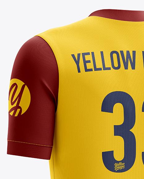 Download Download Mens Soccer V Neck Jersey Mockup Back View ...