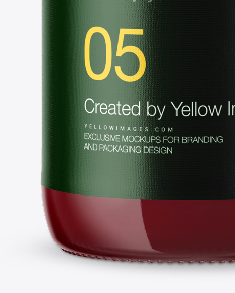 Download Clear Bottle With Cherry Juice Psd Mockup Yellowimages