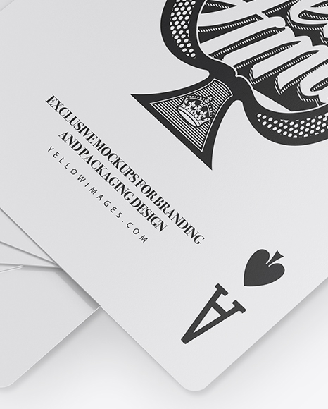 Download Free Psd Playing Card Mockup Yellowimages
