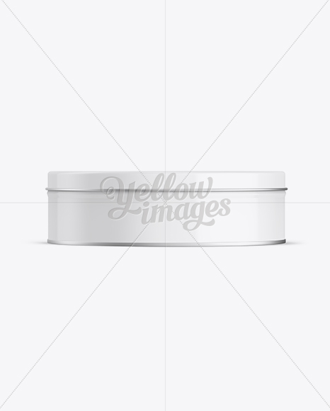 Download Round Metallic Tin Box Psd Mockup Yellowimages