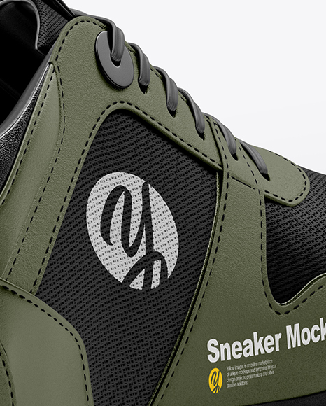 Download Baseball Sneaker Mockup Back Half Side View Yellow Images