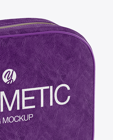 Download Textured Cosmetic Bag Psd Mockup Yellowimages