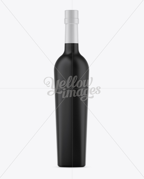 Download this mock up and showcase your label and packaging design. Matte Black Liquor Bottle Mockup Front View In Bottle Mockups On Yellow Images Object Mockups